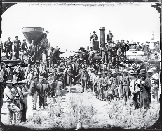 The Driving of the Golden Spike at Promotory Summit, Utah