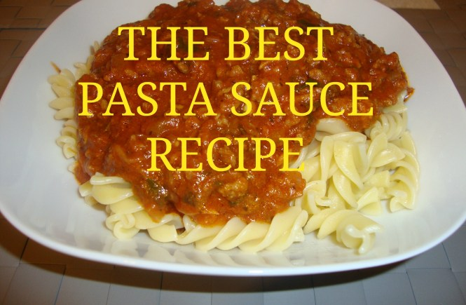 THE BEST PASTA SAUCE RECIPE