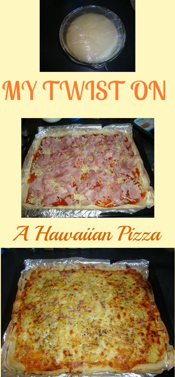 my twist on a Hawaiian pizza