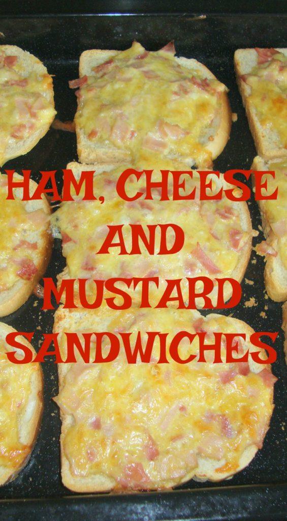 HAM,CHEESE AND MUSTARD SANDWICHES
