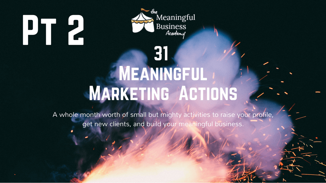 meaningful marketing actions