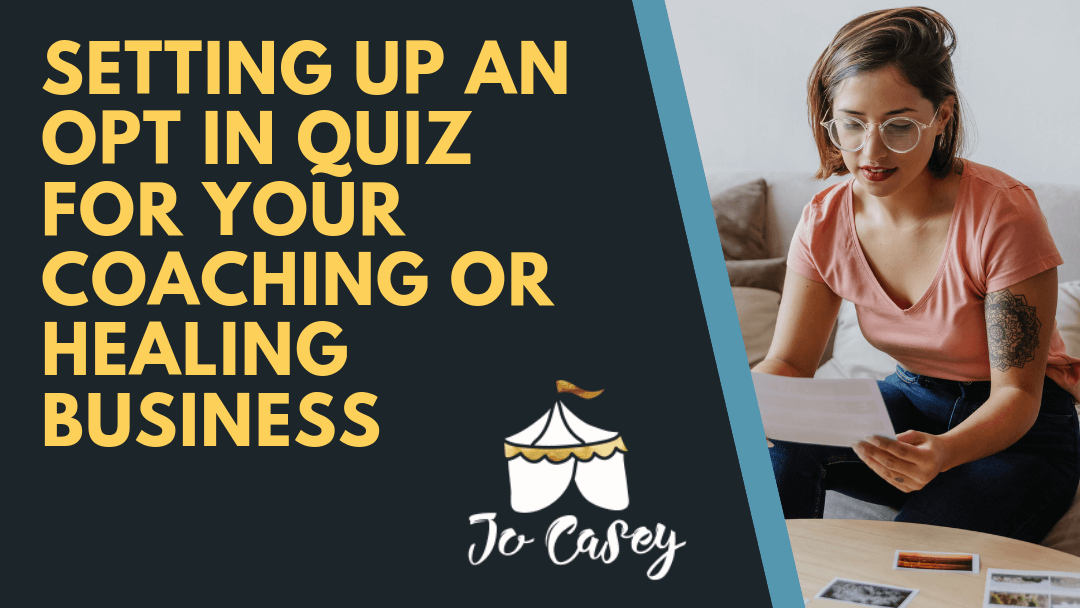 How to create an opt in quiz