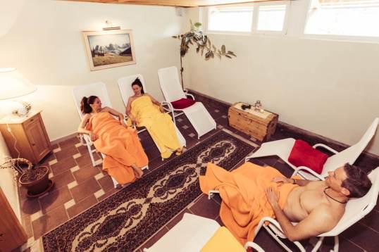 Ruheraum im Wellnesshotel Jochgrimm in den Dolomiten