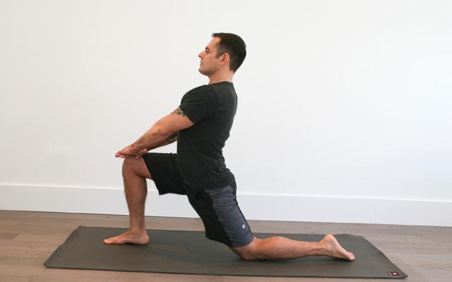 Image result for lunge hip flexor stretch