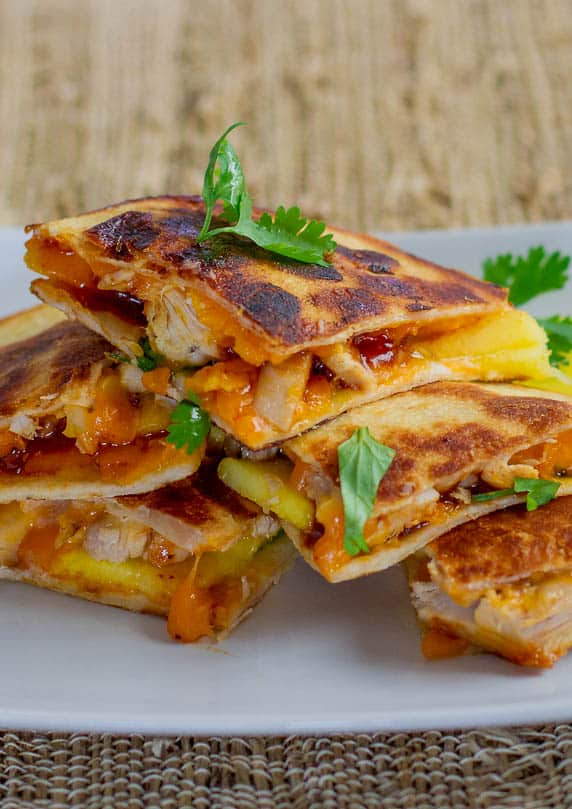 BBQ Chicken and Mango Quesadillas