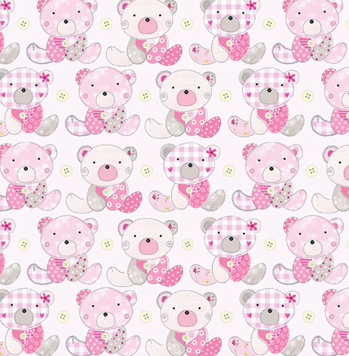 Luxury Baby Girl Gift Wrap 2 Sheets With Matching New Baby Card