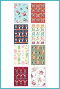 Blank assorted pack of 8 greetings cards - £8.90