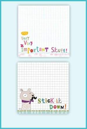 Sticky Note pad Twin Packs - £5.25