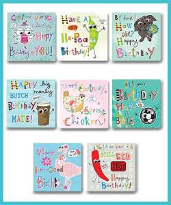 General Birthday Packs of 8 assorted greetings cards - £8.90