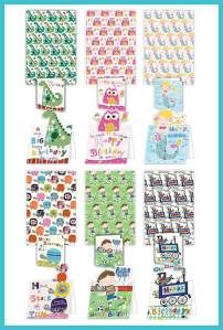 Bumper Gift Wrap packs with matching Birthday card