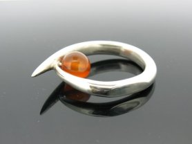 Silver and Carnelian Ring