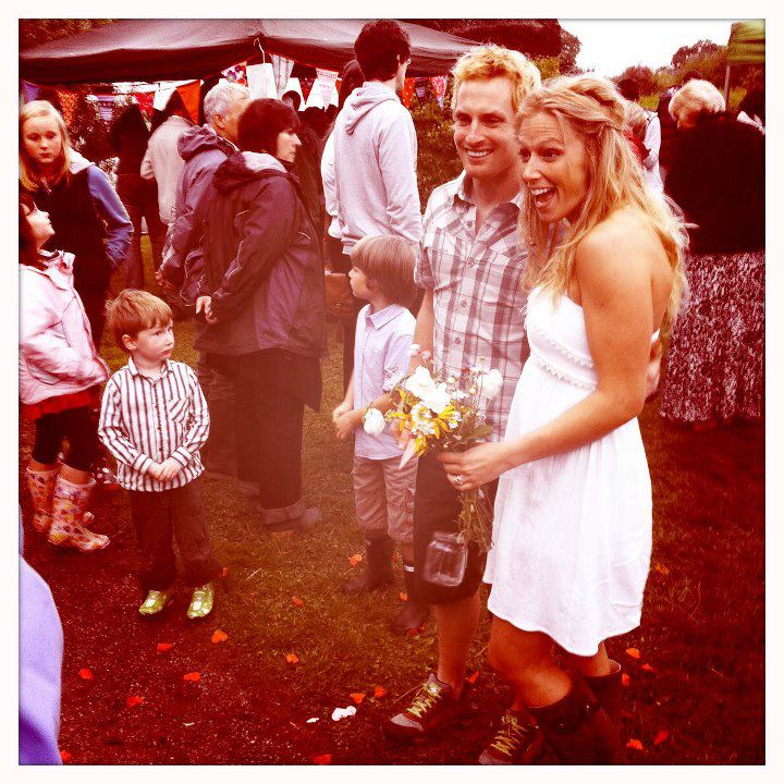 Barn dance reception