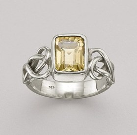 Citrine Knot Ring by Pia
