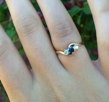 Julie's sapphire and diamond triology