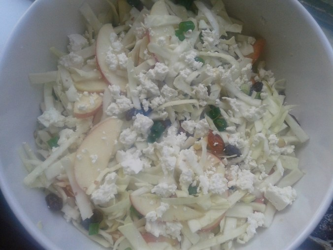 Cabbage Apple & Feta Salad - ready to toss