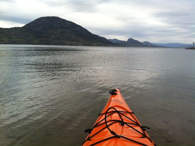 sea kayak on Lake Okanagan