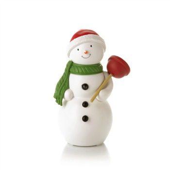 plumber snowman