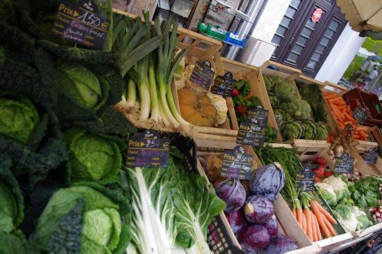 Veggies at farmer's market