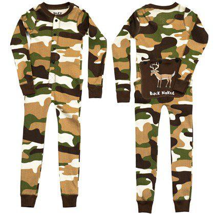 camouflage kids pajamas