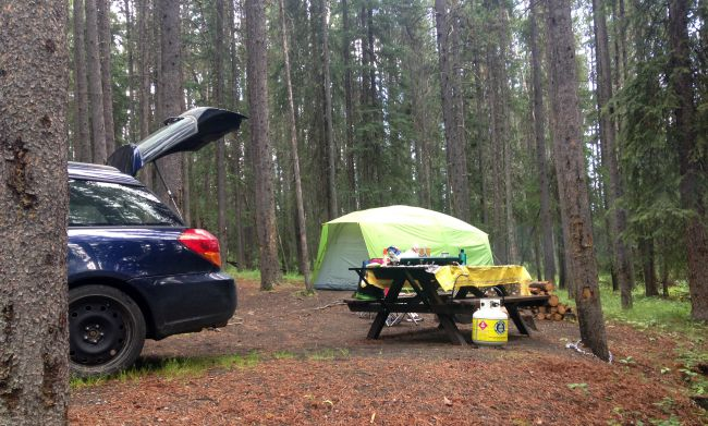 Lazy Camping in Canada at Banff Equipped Campsites