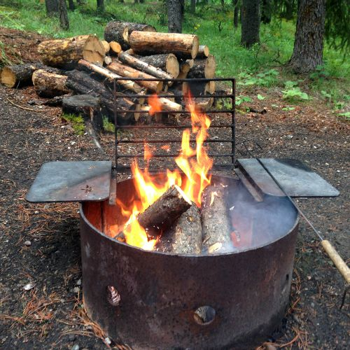 campground campfire pit