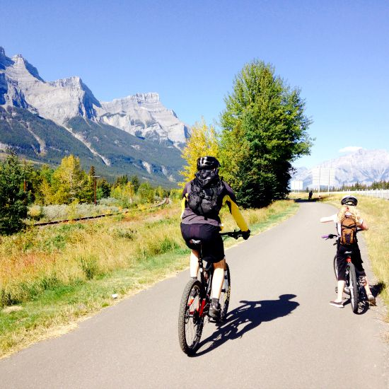 Tips on how to cycle the Legacy Trail from Banff to Canmore with kids