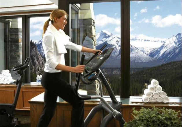 Fitness and pool area banff springs hotel