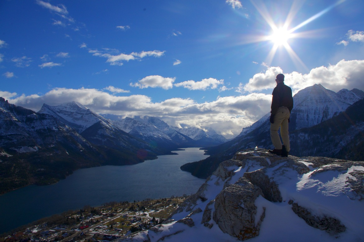 View of Waterton Lakes National Park from Bear's Hump