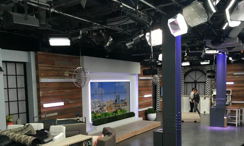 TV talk show set
