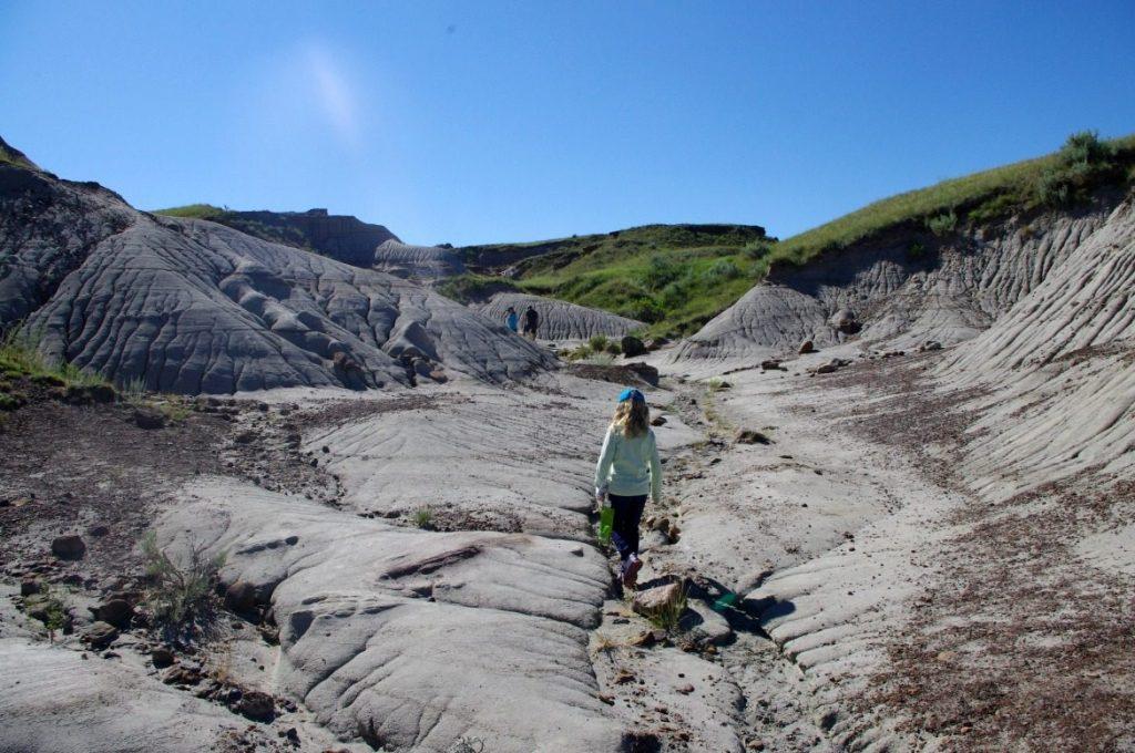 girl dinosaur fossil hunting