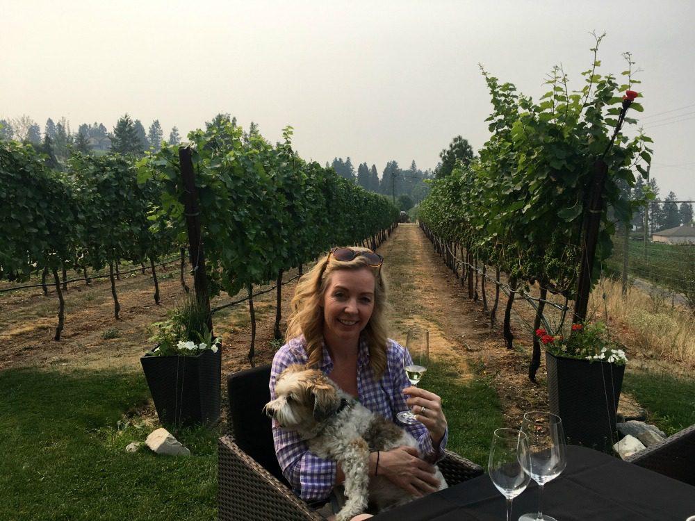 Jody Robbins and dog