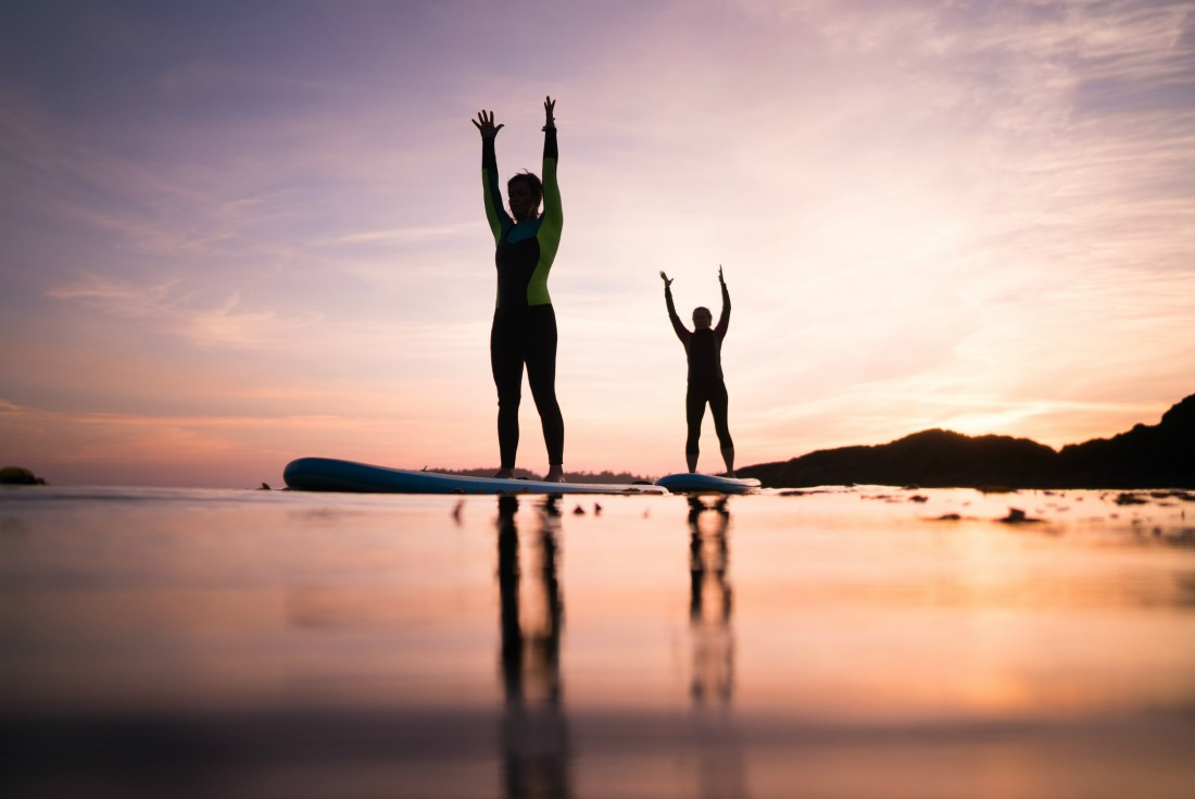 stand up paddleboard yoga