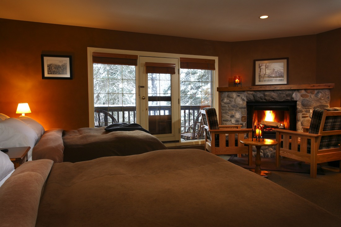 mountain lodge guest room