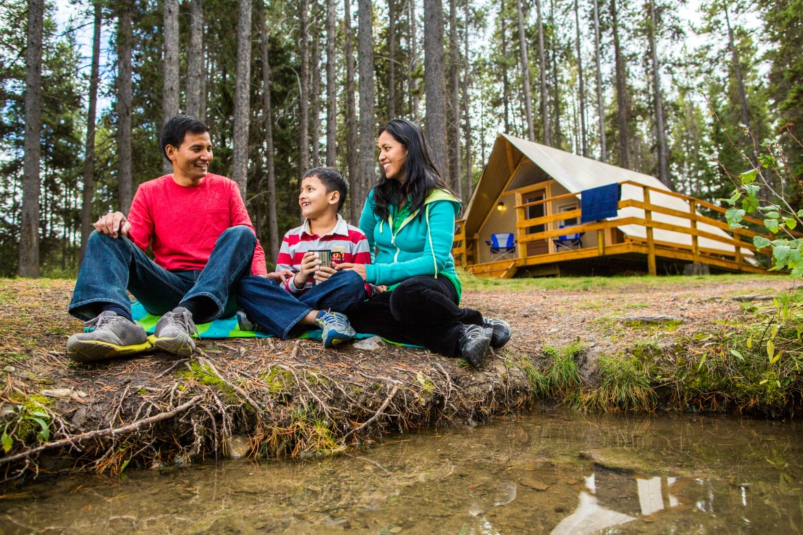 Banff National Park Alberta glamping tents