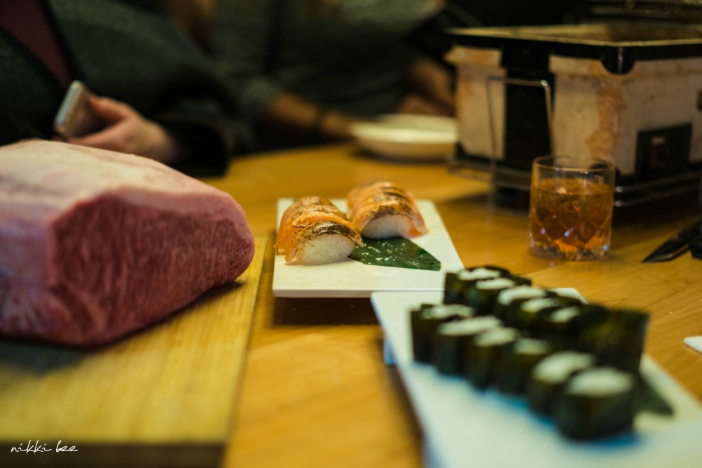 sushi and kobe beef in Calgary