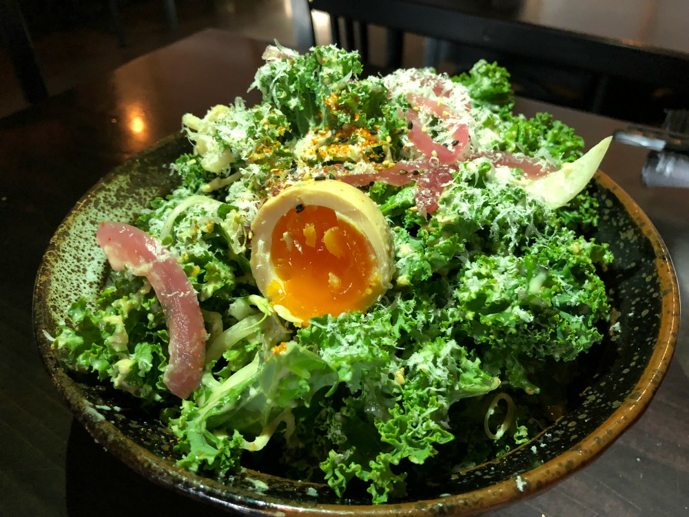 Kale salad japanese restaurant