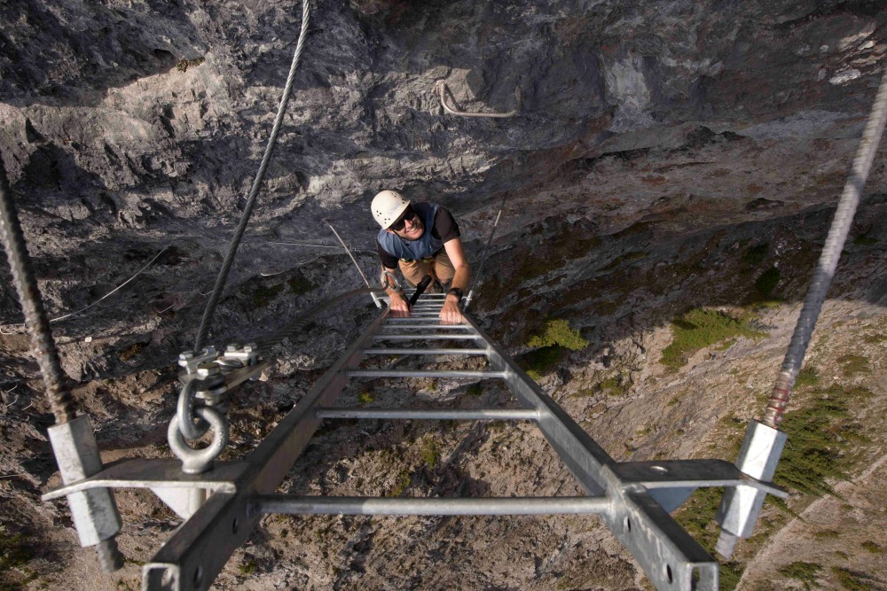 Banff's Via Ferrata at Mount Norquay