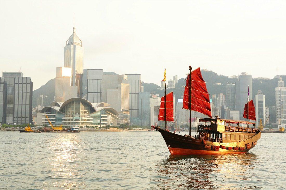 Hong Kong harbour boat
