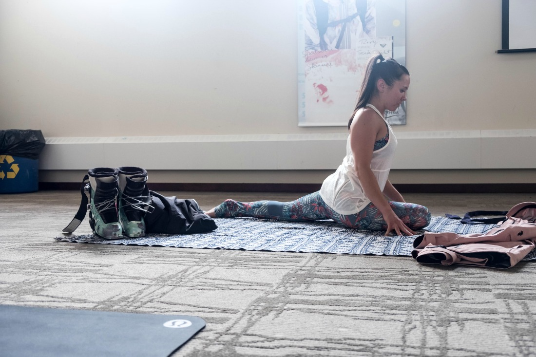 yoga class in Banff