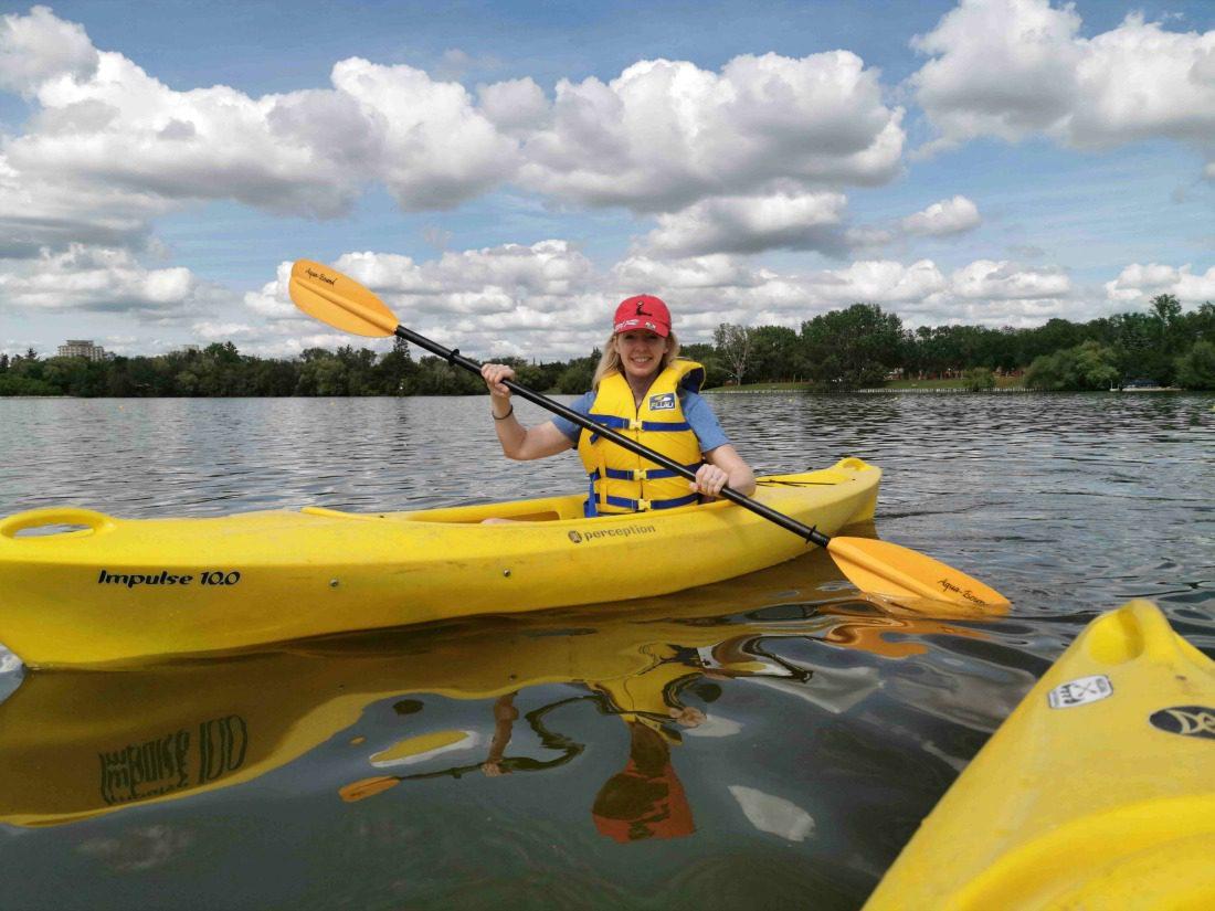 kayaking on wascana lake regina