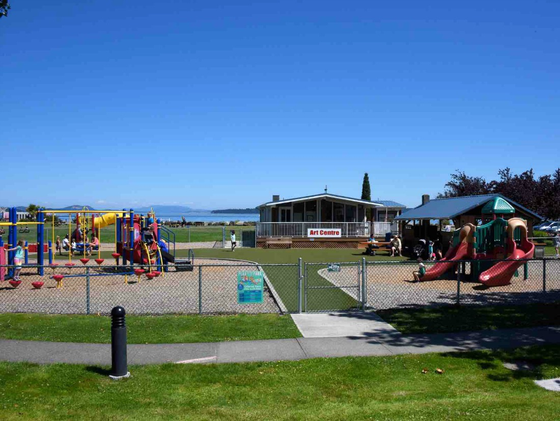 playground near the ocean