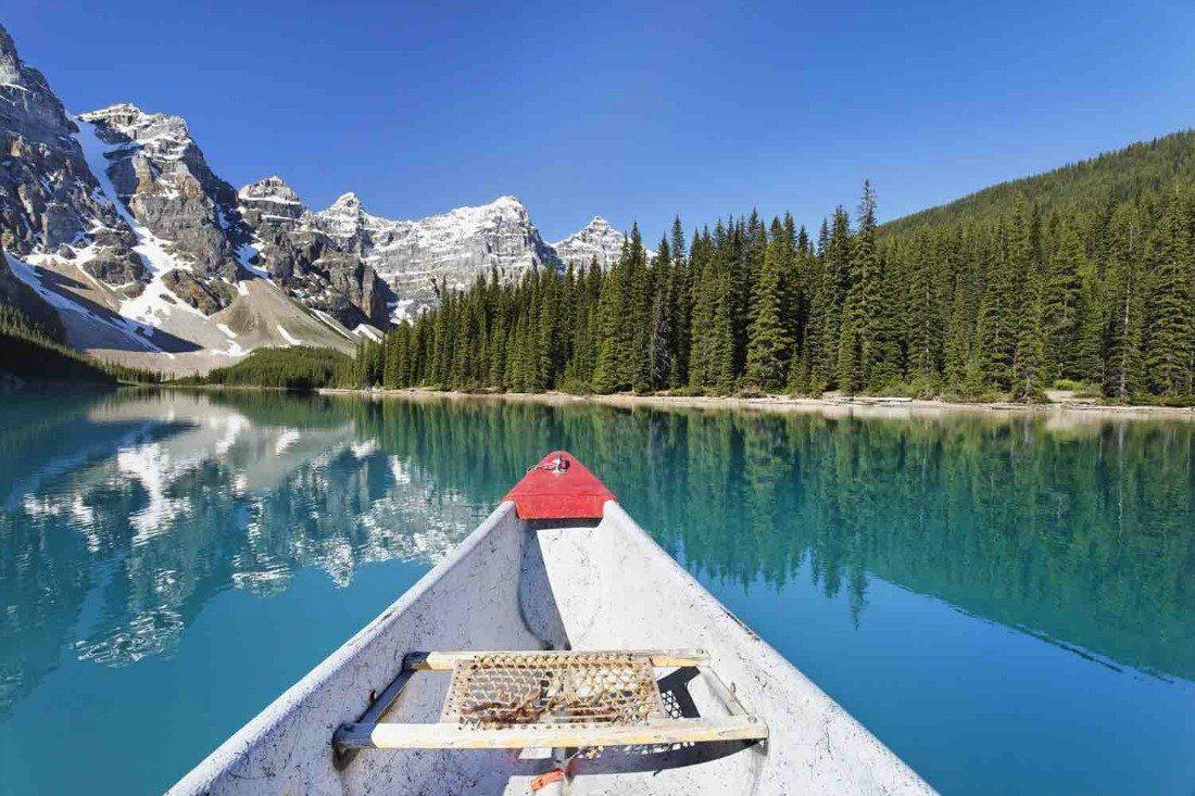 canoeing banff national park