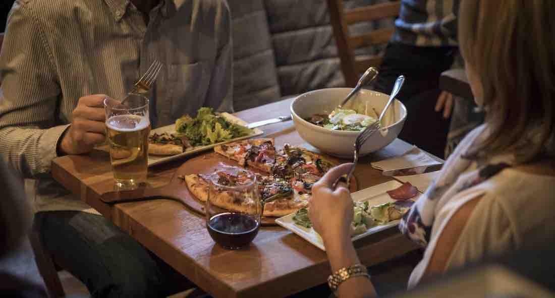 pizza in banff