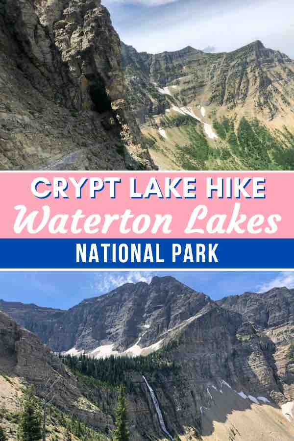 Hiking crypt lake
