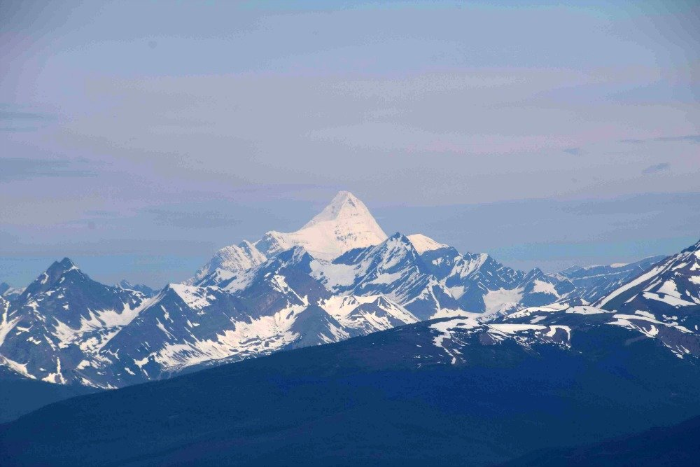 views of Mt Robson from Whistlers mountain
