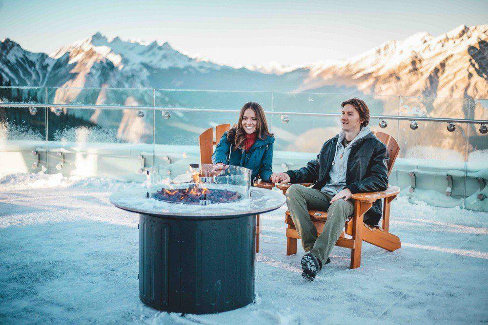 Banff gondola winter