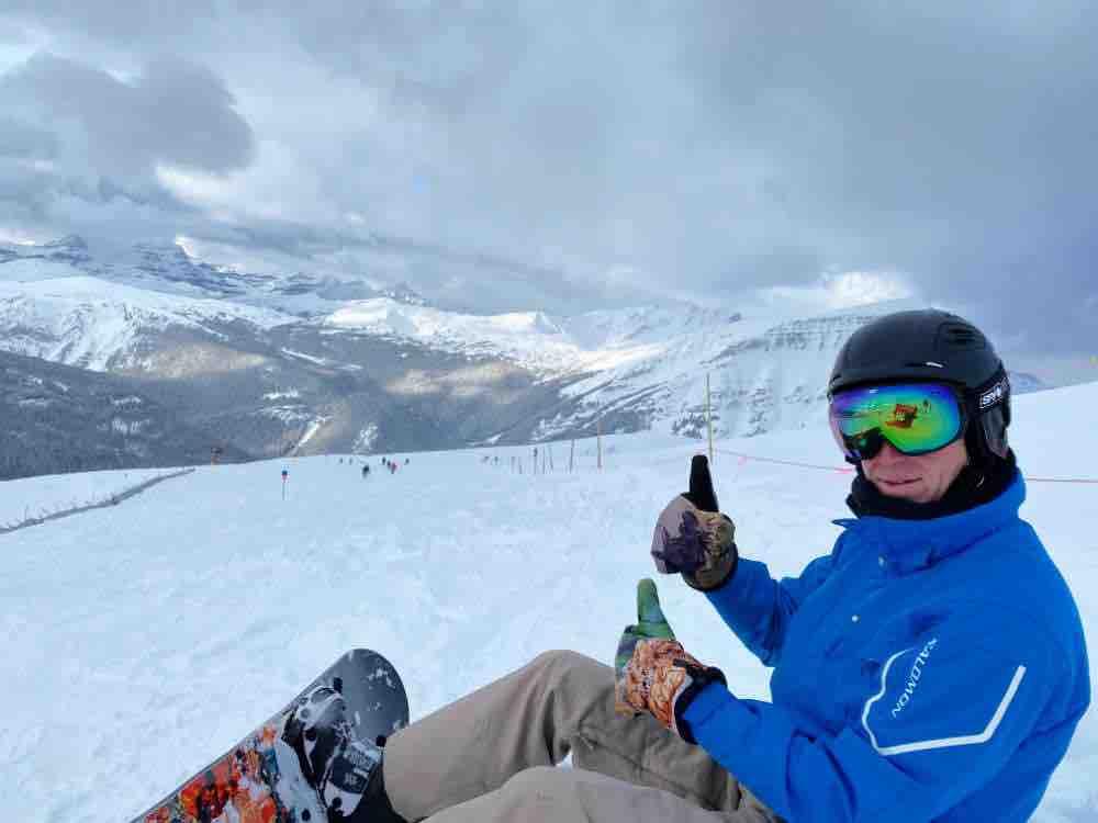 goat's eye snowboarding sunshine village