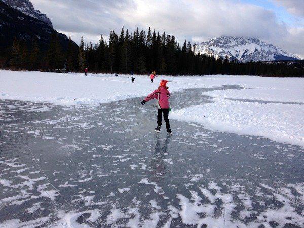 wild ice skating banff