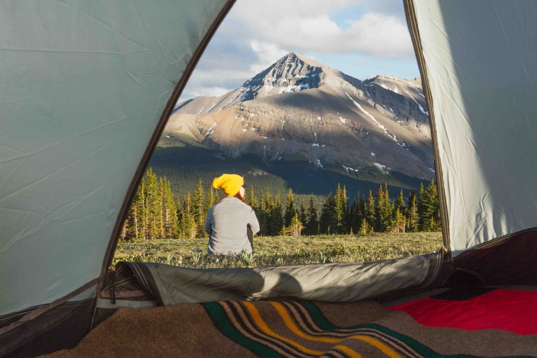 mountain tent camping