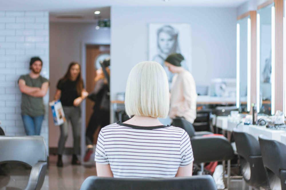 waiting at hair salon